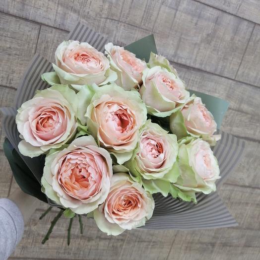 Шикарная пионовидная роза для шикарной леди: букеты цветов на заказ Flowwow
