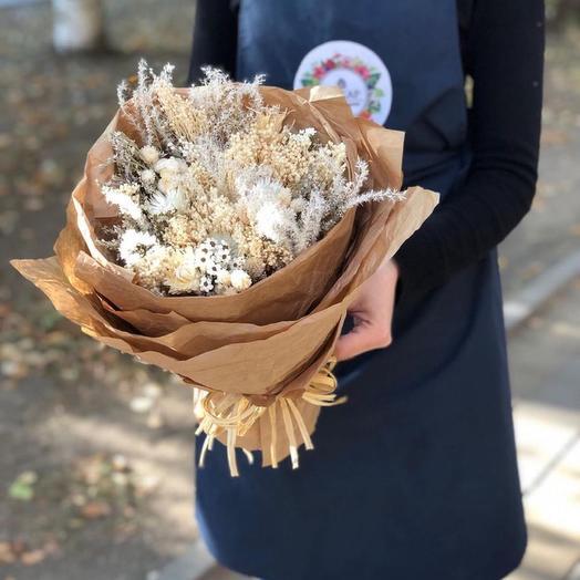 Букет из сухоцветов🍃: букеты цветов на заказ Flowwow