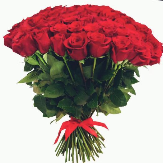 Красные розы 35: букеты цветов на заказ Flowwow