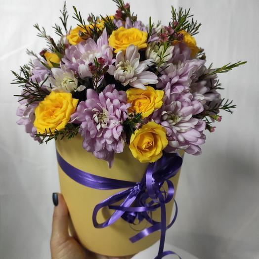 Солнечная коробка: букеты цветов на заказ Flowwow