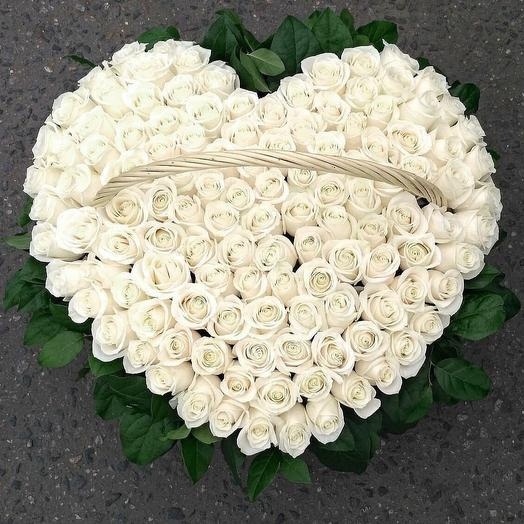Белоснежная Любовь: букеты цветов на заказ Flowwow