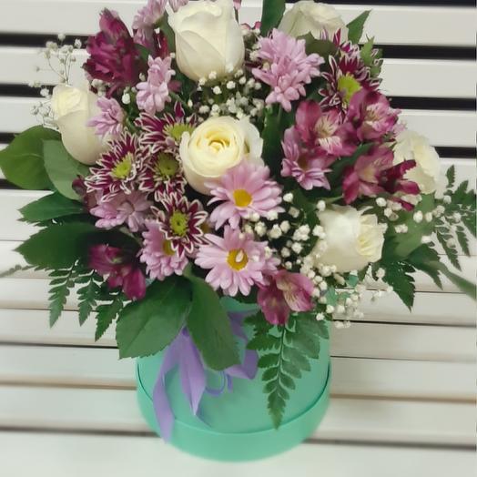 Коробка с цветами средняя