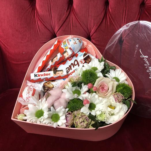 Сердце 14 февраля: букеты цветов на заказ Flowwow