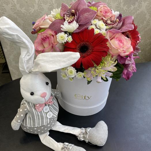 Зайке моей: букеты цветов на заказ Flowwow