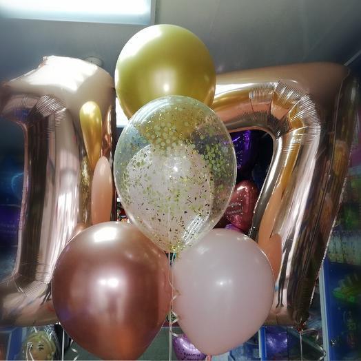 Гелиевые шары к 17-летию: букеты цветов на заказ Flowwow