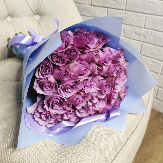 Букет из 35 Сиреневых Роз