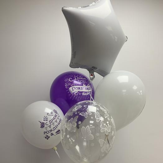 Связка шаров «С Днём Рождения»