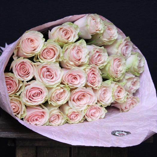 25 нежных роз. Premium