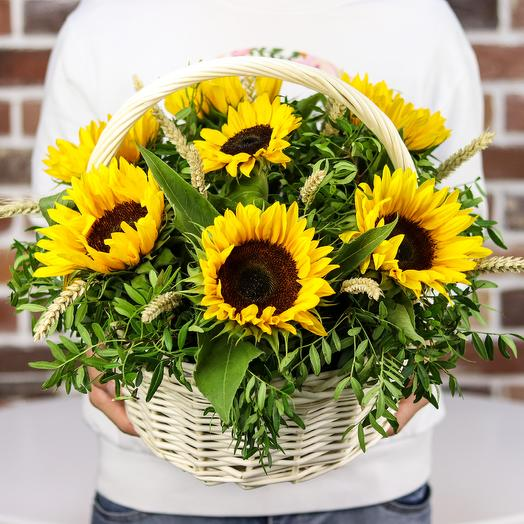 Корзины с цветами . Подсолнухи. N538