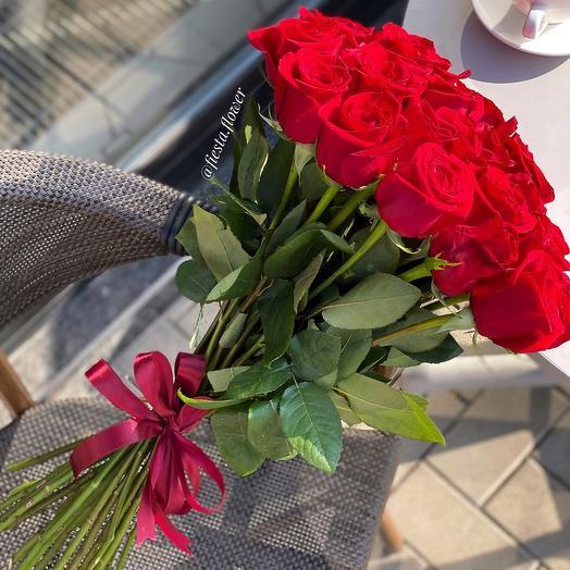 Bouquet of 19 roses Ecuador 70 cm