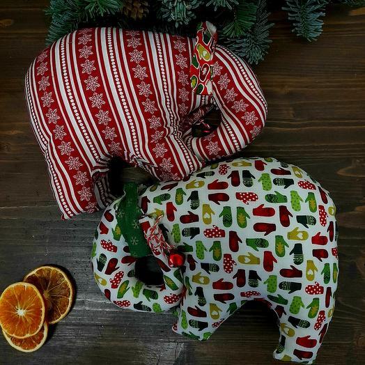 Новогодний слоник ручной работы