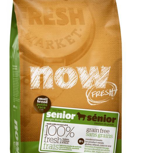 NOW FRESH беззерновой сухой корм для пожилых собак мелких пород с индейкой, уткой и овощами 2,72 кг