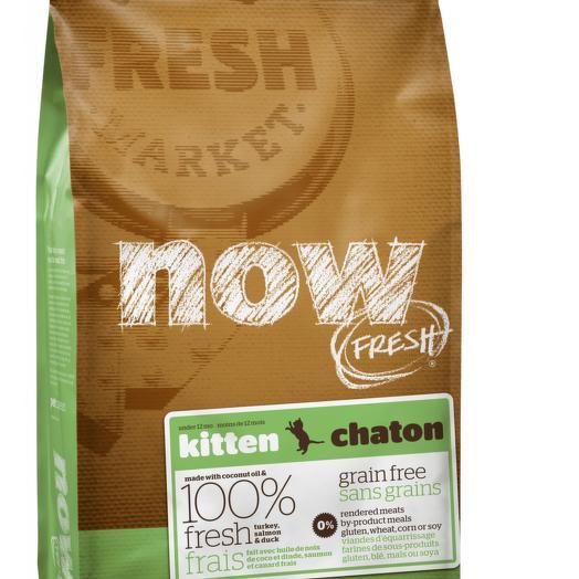 NOW FRESH беззерновой сухой корм для котят, с индейкой, уткой и овощами 3,63 кг