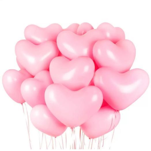 """Набор шаров """"Розовые сердечки"""""""