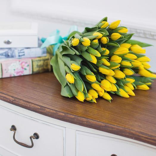 Моно-Букет Тюльпаны Желтые