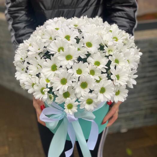 Коробка с хризантемами