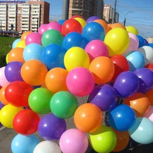 Гелиевые шары 100шт
