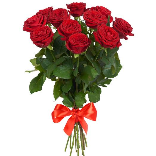 11 алых роз