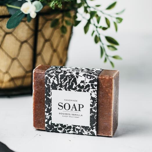 Мыло ручной работы из козьего молока с ароматом ванильного ройбуш Rooibos Vanilla