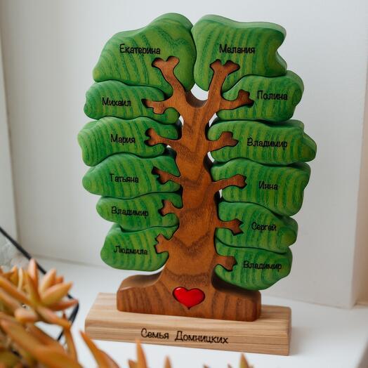 Именное семейное дерево на 12 лепестков