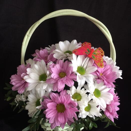 Корзина с цветами  Вероника  6