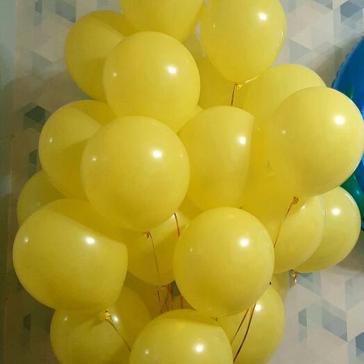 """Воздушные шары 30 штук """"Солнечный зайчик"""""""