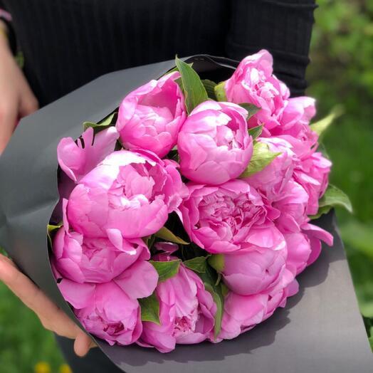 15 raspberry peonies (Russia)