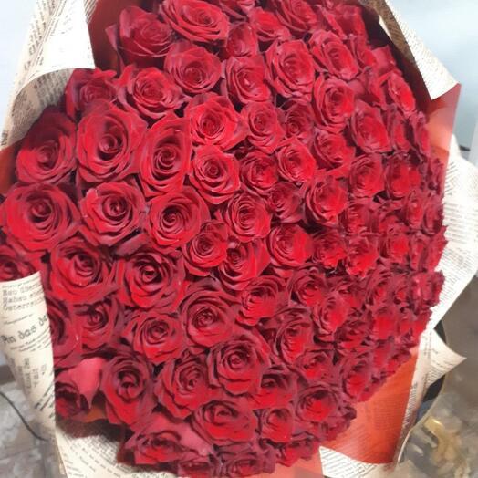 Розы 101 штука 55 см