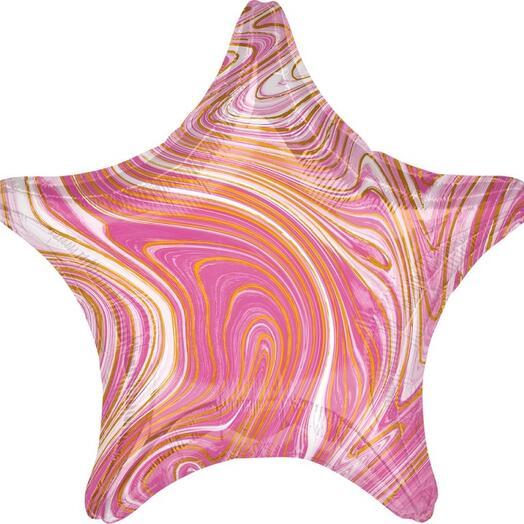Шарик-звезда «Мрамор»