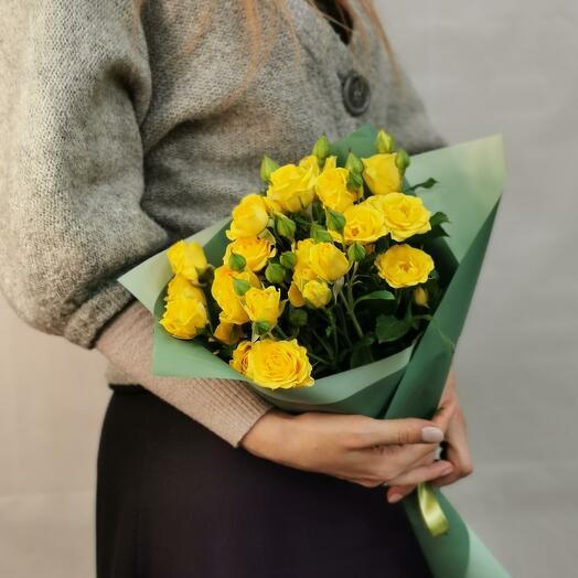 Букет Лимончелло 5 из желтых кустовых роз