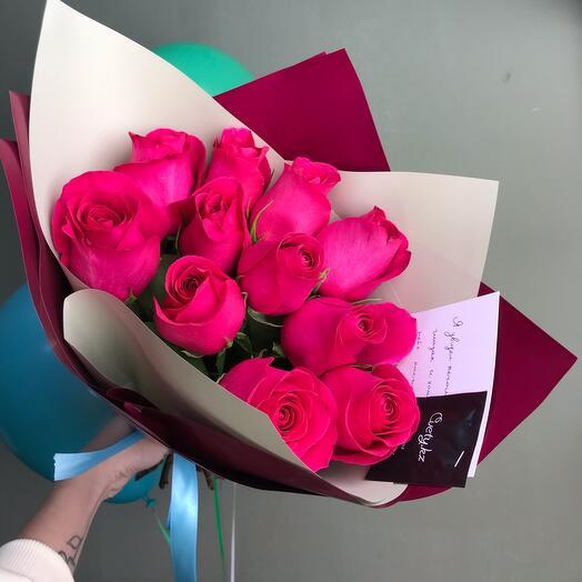 11 роз букет