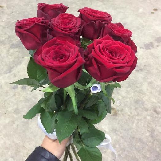 Букет из 7 красных роз 70 см: букеты цветов на заказ Flowwow