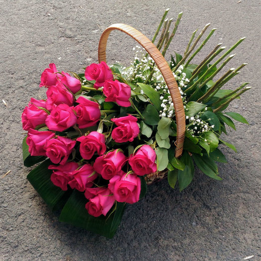 Самой яркой (Корзинка 267): букеты цветов на заказ Flowwow