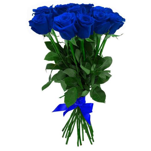 Букет из 15 синих роз: букеты цветов на заказ Flowwow