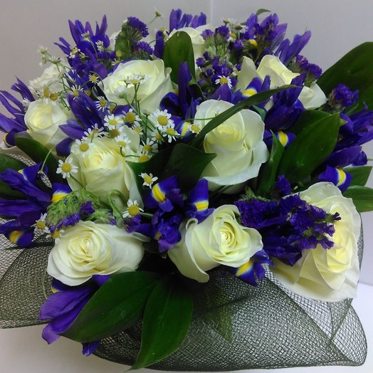 Вайт-Блу: букеты цветов на заказ Flowwow