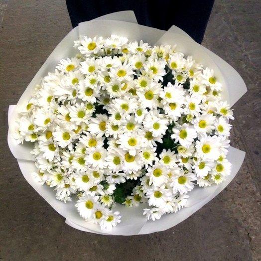 Букет из 21 белой хризантемы кустовой: букеты цветов на заказ Flowwow