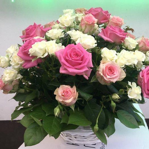 Малая корзина Прованс: букеты цветов на заказ Flowwow