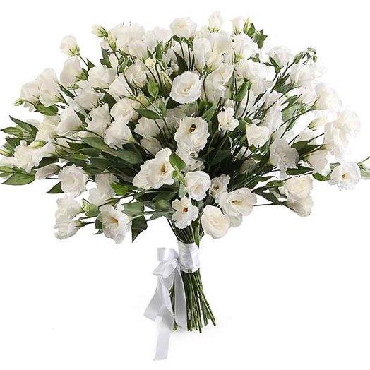 Букет нежной эустомы: букеты цветов на заказ Flowwow