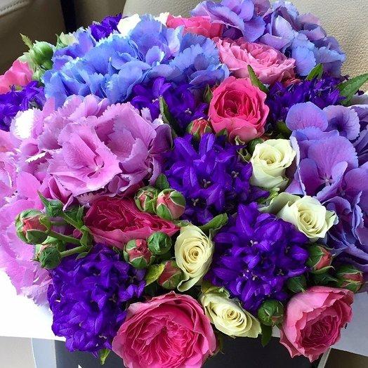 Сборный букет с гортензией: букеты цветов на заказ Flowwow