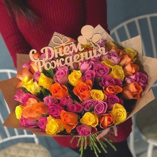 Букет микс розы: букеты цветов на заказ Flowwow