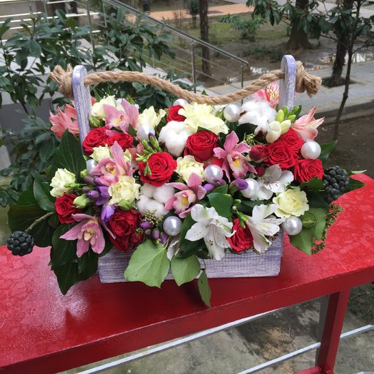 Изысканная композиция: букеты цветов на заказ Flowwow
