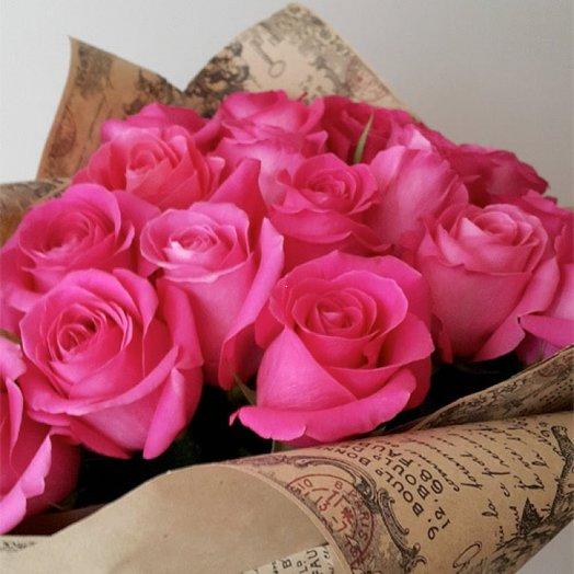 11 розовых роз нежные чувства: букеты цветов на заказ Flowwow