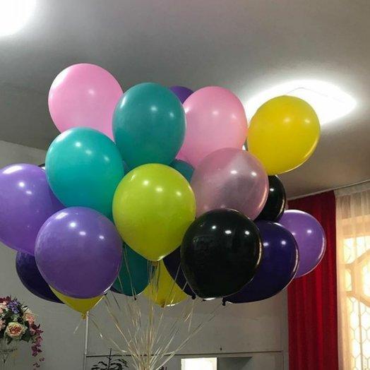 Радужная воздушная охапка шаров 20 шт: букеты цветов на заказ Flowwow