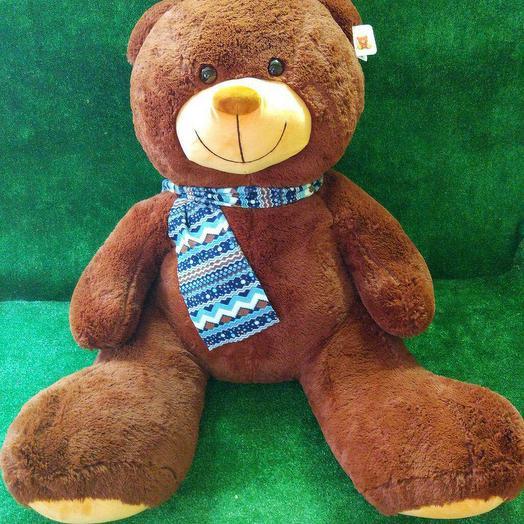 Большой плюшевый медведь: букеты цветов на заказ Flowwow