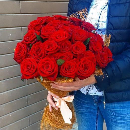 Букет из роз 35: букеты цветов на заказ Flowwow