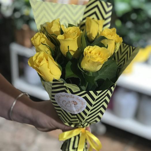 Моно букет из желтых роз