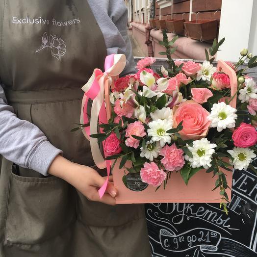 Бокс с цветами 16: букеты цветов на заказ Flowwow