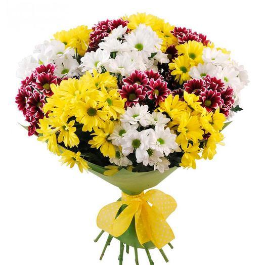 Букет микс хризантем: букеты цветов на заказ Flowwow