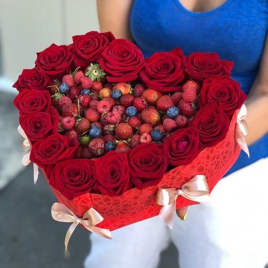 Летнее сердце: букеты цветов на заказ Flowwow