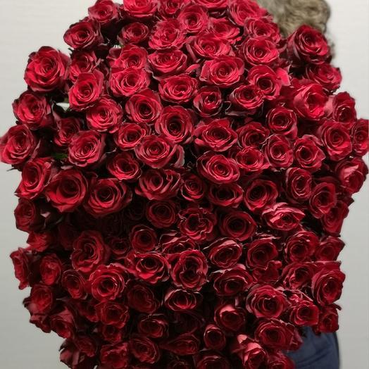 Охабка роз: букеты цветов на заказ Flowwow